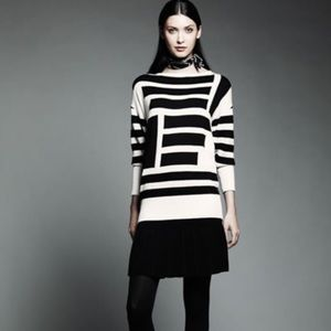 Catherine Malandrino Black/White Long Sleeve